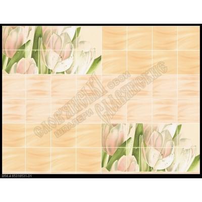 Обои простые бумажные моющиеся Букет 6531-01