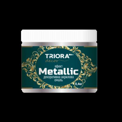 Декоративная акриловая эмаль с эффектом Metallic TRIORA