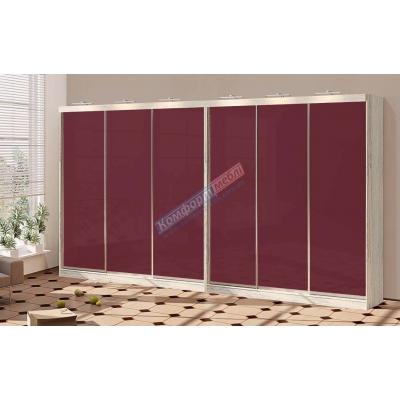 Шкаф-купе шестидверный цветное стекло