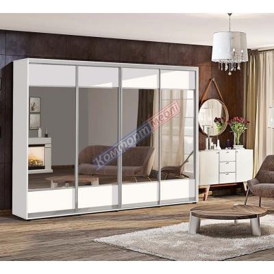 Шкаф-купе четырехдверный с зеркалами