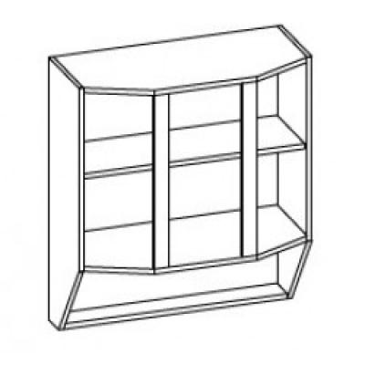 Модуль 80 верх витрина Мебель Сервис Павлина ДСП