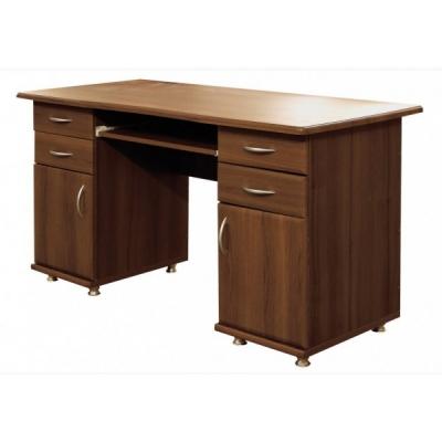 Стол компьютерный с 2-мя тумбами Мебель Сервис МДФ орех