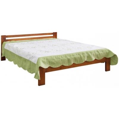 Деревянная односпальная кровать Мебель Сервис орех
