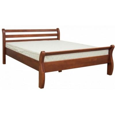 Деревянная двуспальная кровать Мебель Сервис Афина орех
