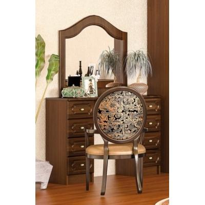 Туалетный столик с зеркалом Мебель Сервис Глория МДФ лак яблоня