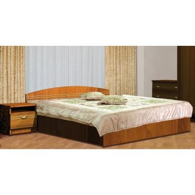 Двуспальная кровать Мебель Сервис Доминика ДСП орех