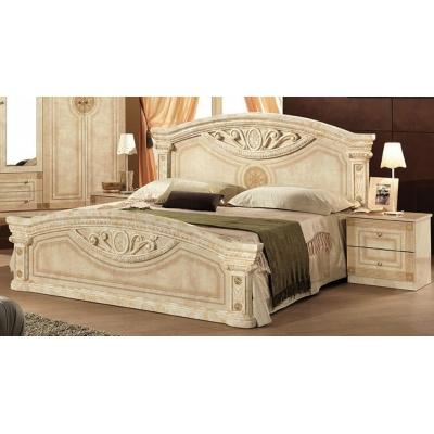 Двуспальная кровать Мебель Сервис Рома ДСП клен