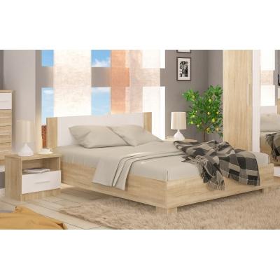 Двуспальная кровать Мебель Сервис Маркос ДСП дуб самоа