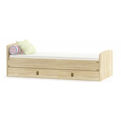 Односпальная кровать Мебель Сервис Валенсия ДСП дуб самоа