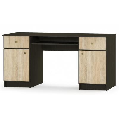 Компьютерный стол 2д2ш Мебель Сервис Фантазия ДСП венге/дуб самоа