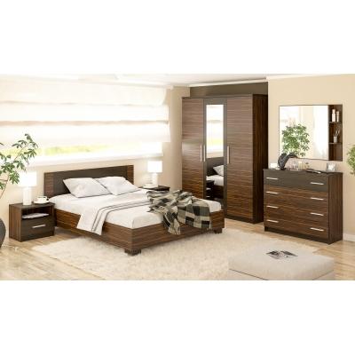 Спальня Вероника цвет макасар/венге
