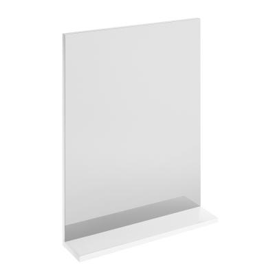 Дзеркало з білою поличкою
