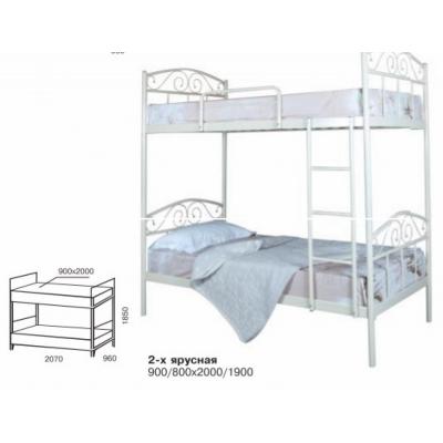 Кровать кованая Элис двухъярусная  ТМ Melbi 80*200