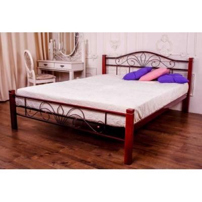 Кровать кованая Лара Люкс Вуд ТМ Melbi 160*190