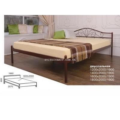 Кровать кованая Лара  ТМ Melbi 120*200