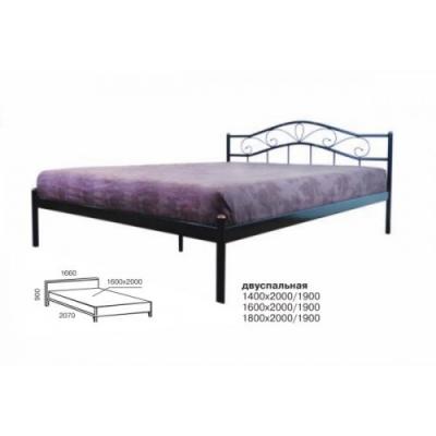 Кровать кованая Мелани ТМ Melbi 160*190