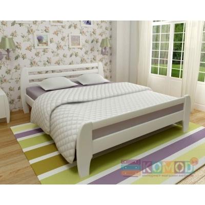 Кровать деревянная масив Милан TM Mebigrand белый, 140*200