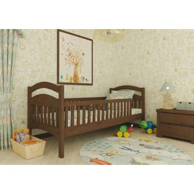 Кровать деревянная масив Жасмин Люкс без шухлядок с двумя заборами TM Mebigrand слоновая кость, 80*200