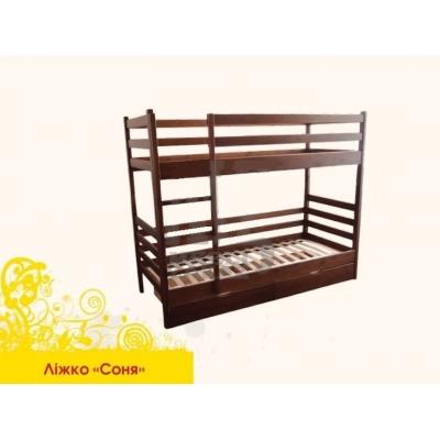 Кровать деревянная двухъярусная Соня без шухлядок  TM Mebigrand