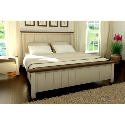 Кровать деревянная масив Калифорния TM Mebigrand слоновая кость, 80*200