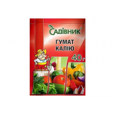 """Препарат ГУМАТ КАЛІЮ 40г ТМ""""САДІВНИК"""""""